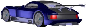 CAD model of Helical's own built TR Speed 12 Supercar