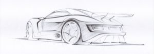 Sketch of Helical's own built TR Speed 12 Supercar